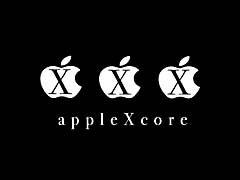 CMapplecore.jpg Logos, Apple Logos, Mac OS X black and white bw grayscale black & white