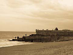 HF02Brighton.jpg sepia tones sepiatones photography black and white bw grayscale black & white Landscapes - Water coastline