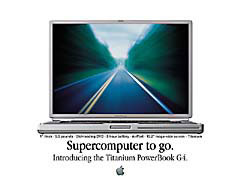 MDsuperToGo.jpg print advertisement apple Apple - PowerBook G4 titanium powerbook titanium