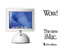 MDwow.jpg print advertisement apple think different Apple - iMac, 2002 flat panel display