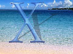 MMbeachX.jpg Logos, Mac OS X Landscapes - Water aqua beach sand coast ocean water