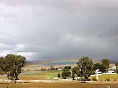 TFsdRainbow.jpg Sky Landscapes - Rural clouds california