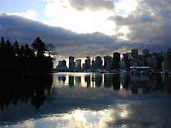 WFvancouver.jpg water sunrise sunset dawn dusk canada lakes ponds water loch Landscapes - Urban